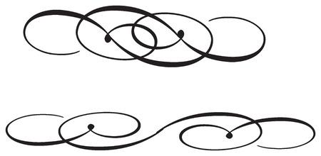 Elegant curl from a vector.Abstract Illusztráció