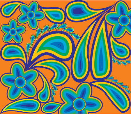 Spring pattern from colour contours. Vector Stock Vector - 4003118
