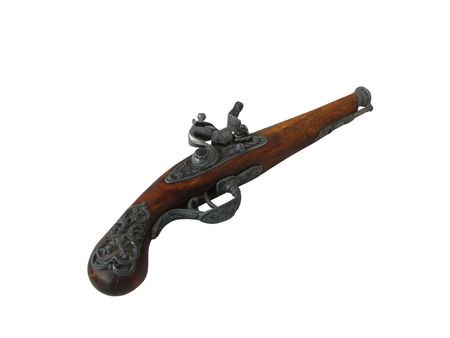 flintlock pistol: An antique flintlock pistol