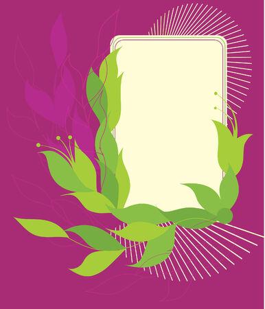 silhouete: Banner illustration, ornate element. Vector Illustration