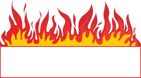 Fire-banner background. Abstract vector
