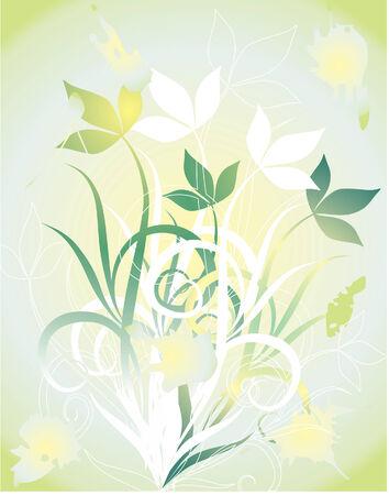 Helle Blumen des Sommers. Vector illustration Standard-Bild - 4337955