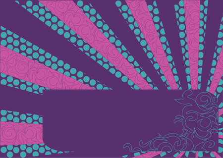 Background banner vector from circles. Beams Ilustracja