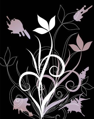 Helle Blumen des Sommers. Vector illustration Standard-Bild - 4549650