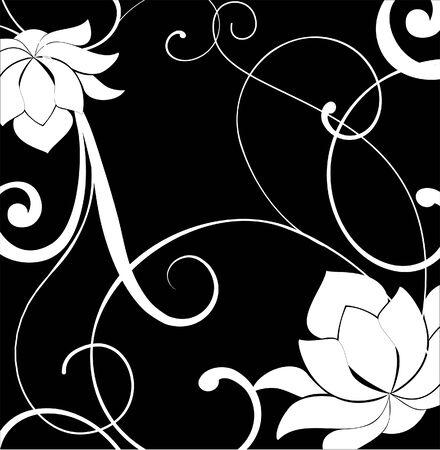 dessin noir blanc: Elle est noire � dessin blanc de couleurs. Vector Illustration