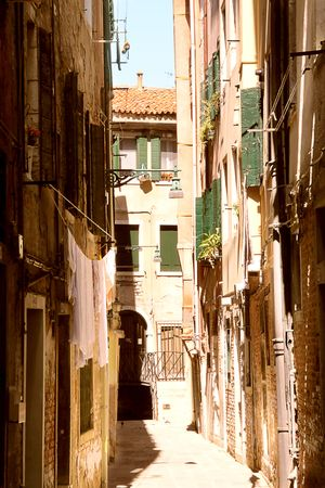 Small street in Venice. Italy