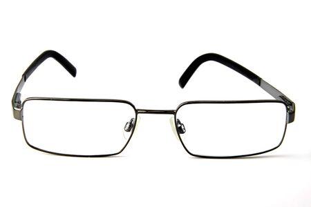 eye wear: Ojo usar gafas de color blancos, aislados en