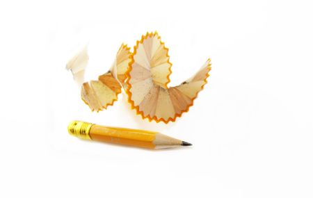 Sharpened pencil and wood shavings Stock Photo - 7006026