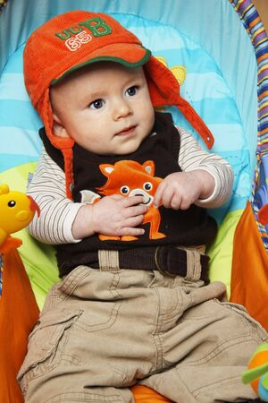The little boy in a cap Stock Photo - 7040910