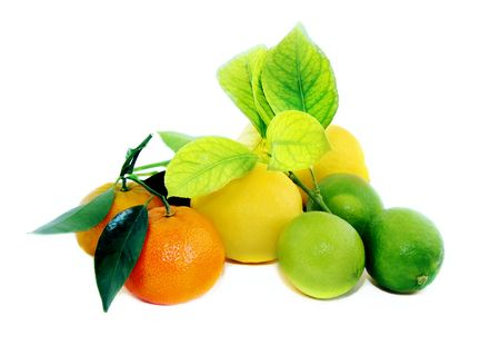 Fruit on a white background photo