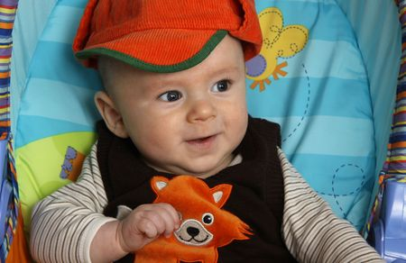 The little boy in a cap Stock Photo - 8101528