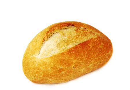 bread on white backgroundon