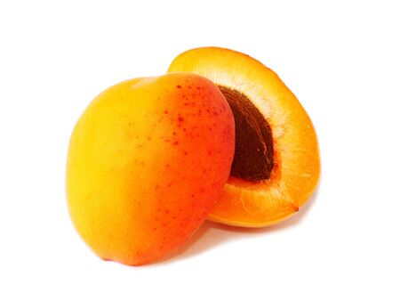 Fresh and ripe apricot isolated on a white background photo