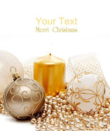 Christmas balls on white background.  photo