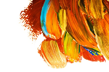 Artists  paints multi colored Stock Photo - 17211303