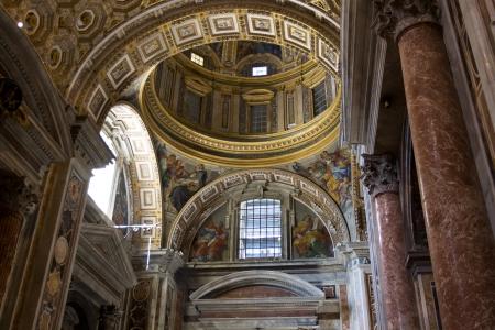 Saint Peters basilica interior in Vatican