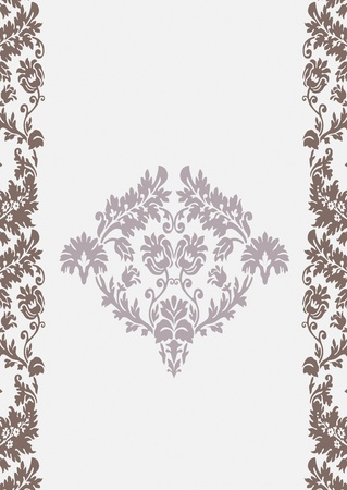 Seamless wallpaper background floral vintage  vector Stock Vector - 18677448
