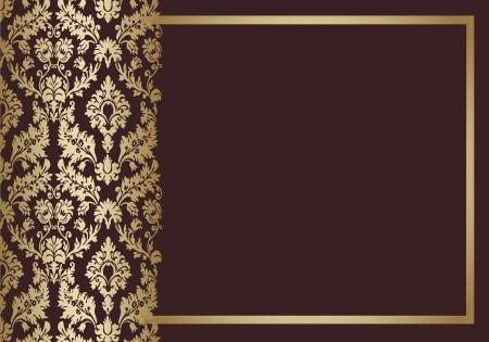Seamless wallpaper background floral vintage  vector  Stock Vector - 18677459