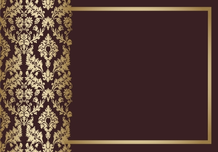 Seamless wallpaper background floral vintage  vector Stock Vector - 18677459