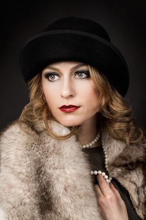 silent film: Retro Woman Portrait   Beautiful Woman