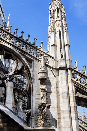 dome type: Roof of the Famous Milan Cathedral, Lombardy, Italy