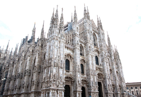 the cathedral church of Milan in Lombardy, northern Italy. photo