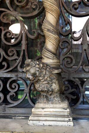 ecclesiastical: Monument of lion Stock Photo