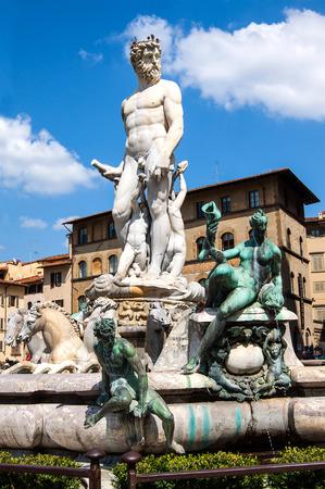 neptun: Fontana del Nettuno - Neptun fontain - near Palazzo Vecchio, Florence, Italy