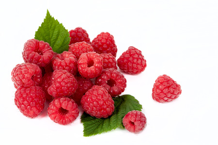 raspberries: Sweet raspberry isolated on white background cutout