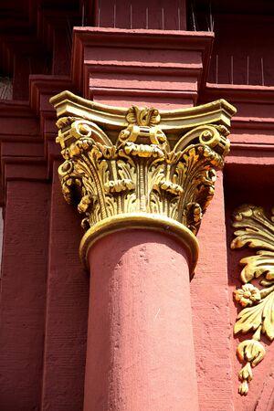 doric: beautiful old column - closeup