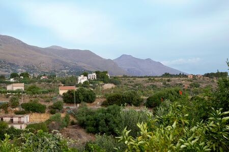 Countryside in Sicily . Italy - Landscape