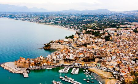 golfo: The town of Castellammare del Golfo in the province of Trapani in Sicily, Italy
