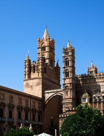 dome type: Palermo Cathedral (Metropolitan Cathedral of the Assumption of Virgin Mary) in Palermo, Sicily, Italy