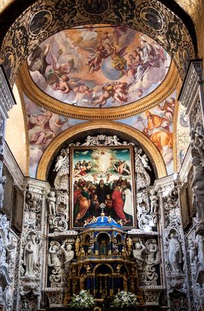 interior shot: Interior Shot of the famous church Santa Maria  in Palermo in Sicily, Italy Editorial