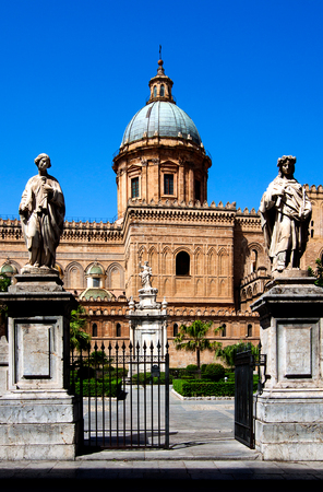 palermo: Palermo Cathedral (Metropolitan Cathedral of the Assumption of Virgin Mary) in Palermo, Sicily, Italy