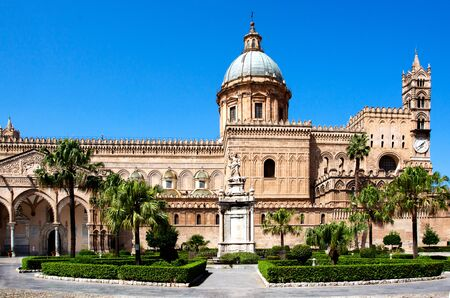 Palermo Cathedral (Metropolitan Cathedral of the Assumption of Virgin Mary) in Palermo, Sicily, Italy