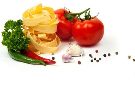 Pasta Ingradients. Cherry tomates Banco de Imagens