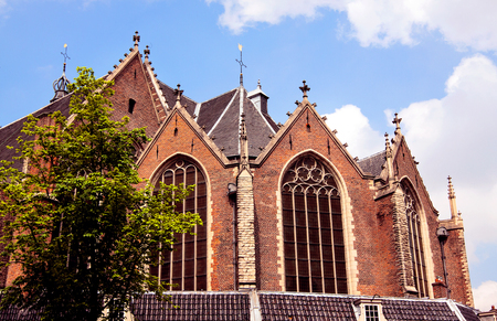 medieval architecture in Amsterdam Stock Photo
