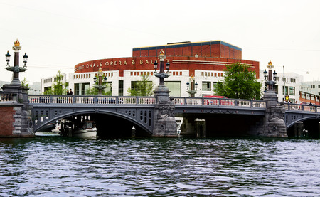 Dutch National Opera & Ballet building (Stopera) in Amsterdam, Netherlands Editorial