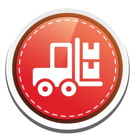 fork lifts trucks: forklift icon