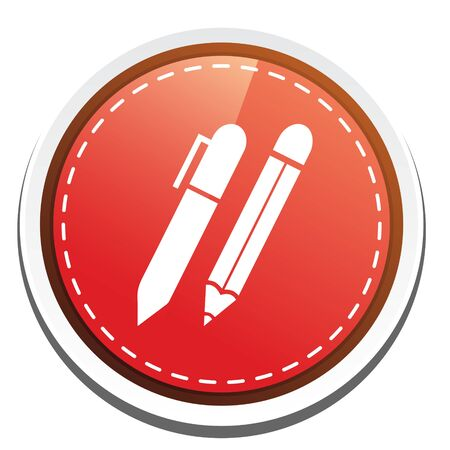 writing equipment: pen and pencil write icon