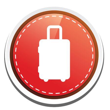packing suitcase: valigia. icona Vettoriali