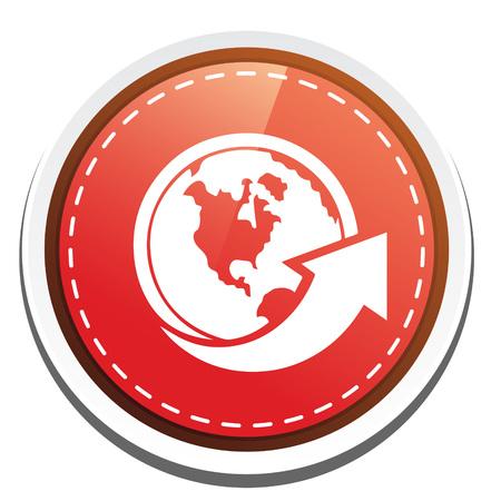 globe arrow: globe Arrow  icon