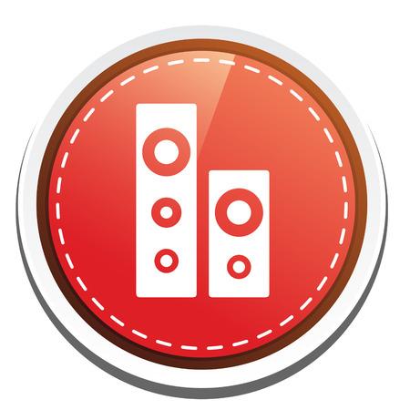 sound system: icono de sistema de sonido