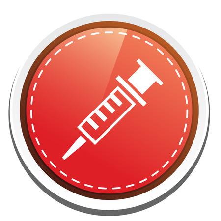 insulin syringe: injection icon Illustration