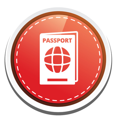 emigration and immigration: passport icon Illustration