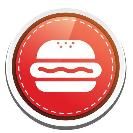beef burger: beef burger icon Illustration