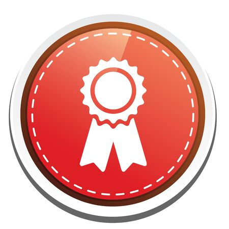 certification: certification seal icon Illustration