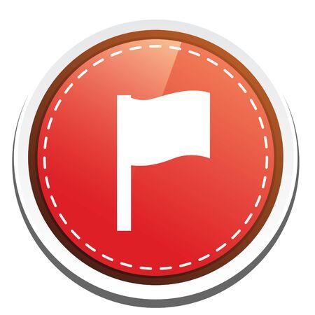 flag button: race  flag button Illustration