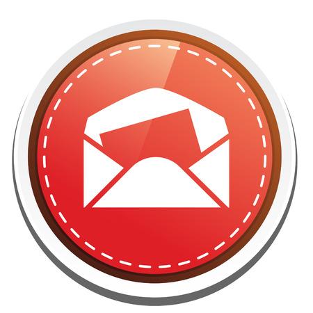 envelope icon: open  mail envelope icon Illustration